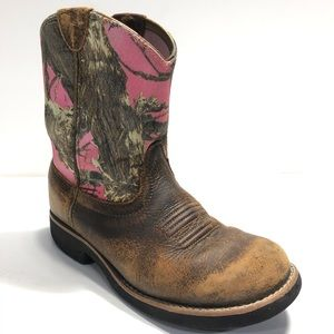 Ariat Fatbaby little girl western boots pink camo